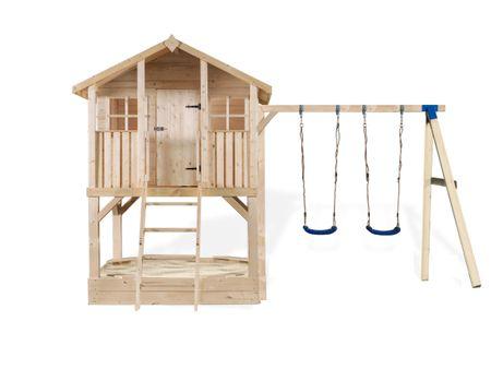Stelzenhaus Tobi Premium mit Schaukel und Sandkasten – Bild 9