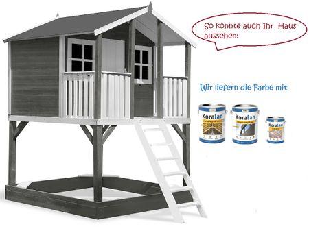 Stelzenhaus Tobi Premium inkl. Farbe – Bild 1
