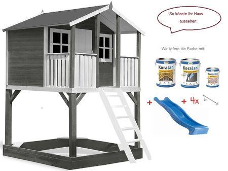 Stelzenhaus Tobi Premium xxl incl. Farbe – Bild 14