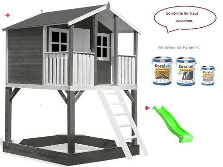 Stelzenhaus Tobi Premium xxl incl. Farbe – Bild 10