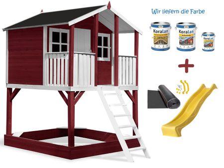Stelzenhaus Tobi Premium incl. Farbe / Rot – Bild 15