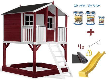 Stelzenhaus Tobi Premium incl. Farbe / Rot – Bild 14