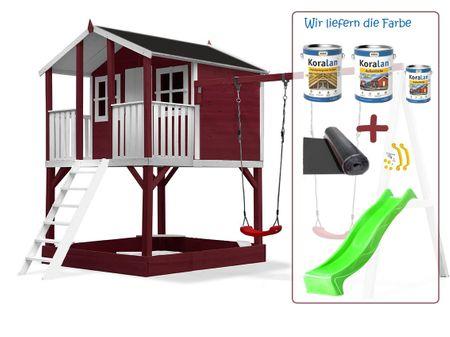 Stelzenhaus Tobi - Swing - 719 - Holzschutz-Farbset Rot inklusive – Bild 15