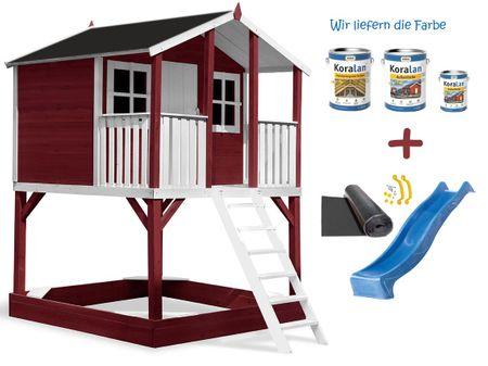 Stelzenhaus Tobi Premium XXL incl. Farbe / Rot – Bild 6