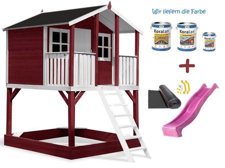 Stelzenhaus Tobi Premium XXL incl. Farbe / Rot – Bild 10