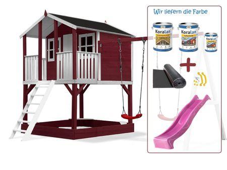 Stelzenhaus Tobi Premium XXL incl. Farbe / Rot – Bild 21
