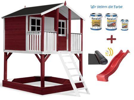 Stelzenhaus Tobi Premium XXL incl. Farbe / Rot – Bild 12