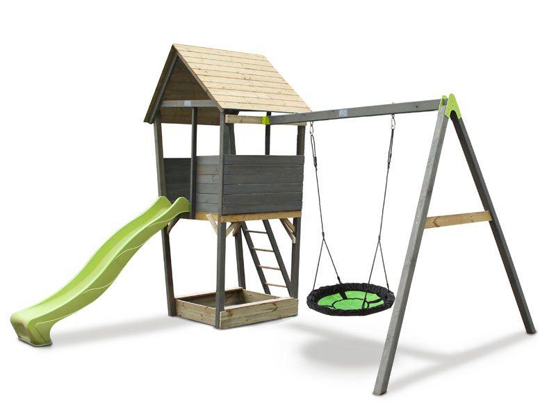Aksent Spielturm mit Nestschaukel