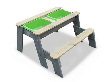 Aksent Sand-, Wasser- und Picknicktisch L mit 1 Bank – Bild 1