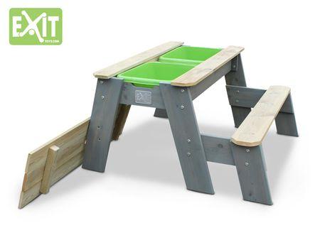 Aksent Sand-, Wasser- und Picknicktisch L mit Bank – Bild 2
