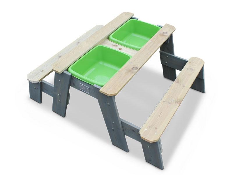 Aksent Sand-, Wasser- und Picknicktisch L mit 2 Bänken