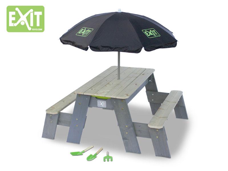 Aksent Sand-, Wasser- und Picknicktisch L Deluxe 2 Bänke – Bild 2