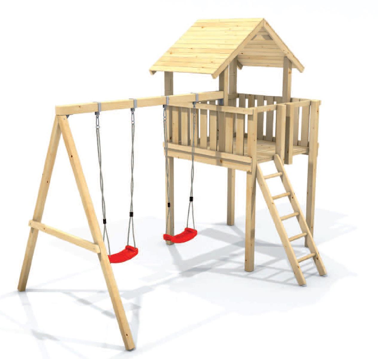 Spielturm Mia - Swing - 350 - ★größer★höher★stabiler★ – Bild 4